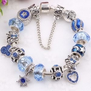 European charm 925 silver Pan like bracelet